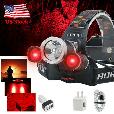 BORUiT 25000LM XM-L LED Headlamp Hunting Headlight Rechargeable Head Torch 18650