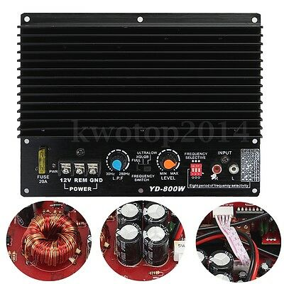 200W 12V HiFi Class D High Power Subwoofer Amplifier Board Amp Car Audio Player
