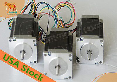 [USA&EU FREE]Nema23 stepper motor Dual Shaft 3N.m(425oz-in) 115mmEngravingcnc