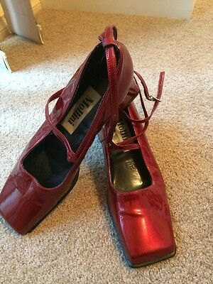 Mollini Womens Vintage Shoes Red Patent Size 7B