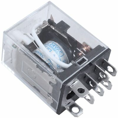 JQX-13F LY2 AC 24V Coil 8-Pin DPDT LED Electromagnetic Relay WS