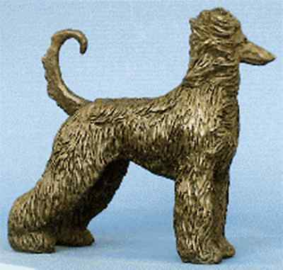 "Afghan Hound: Cold-Cast Bronze Figurine  5.25"" Long #63-002"