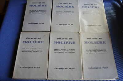 MOLIERE / Théâtre 6 tomes