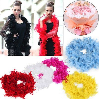 2m Feather Boa Hen Night Party Fancy Dress Marabou Costume Wedding Traditional