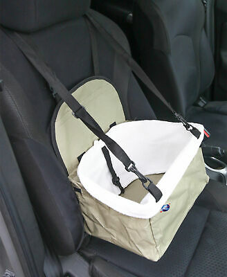 Folding Pet Dog Cat Travel Car Booster Seat Bag Puppy Carrier Safety Belt