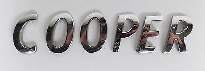 "BMW Mini ""Cooper"" ""One"" / ""D"" & ""S"" and Individual Letters / Badge Emblem Logos"