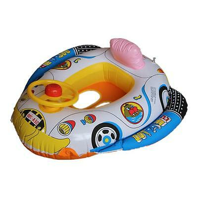Baby Kids Wheel Swimming Seat Ring Water Inflatable Aid Trainer Toddler Float