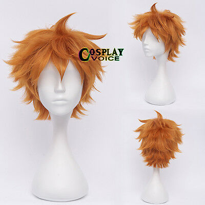 Orange Haikyuu Karasuno High School Volleyball Club Hinata Shouyou Cosplay Wig