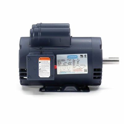 "120554.00 Leeson 5HP Compressor Duty Motor, 3450RPM, 230V 1Ph, 145T, 7/8"",120554"