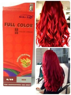 Hair Full Color  Star List Permanent Cream  Dye Free  Aroma Serum Red 0/55