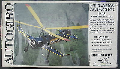 WILLIAMS BROS. 48-161 - PITCAIRN AUTOGIRO - 1:48 - Modellbausatz - Model KIT