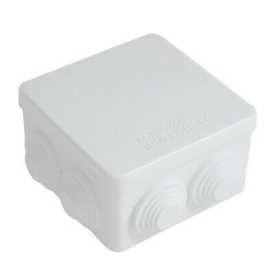 ABS IP55 Waterproof Square Junction Box Plain Press on Lid 85x85x50mm WS