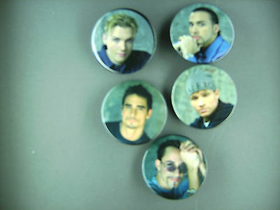 Rare Vintage Back Street Boys   Button Pin Set Condition New