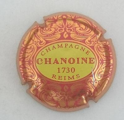 capsule champagne CHAMOINE n°4 lettres rouge