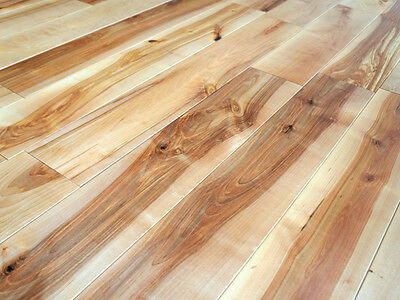 Solid Nordic Birch Hardwood Flooring Wood Boards Rustic 20x120mm Natural Oiled