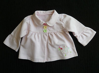 Baby clothes GIRL 6-9m pink bird collar lightweight jacket/coat cotton SEE SHOP!