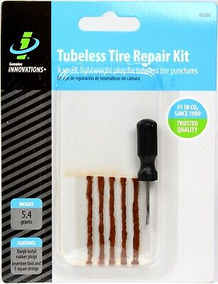 Genuine Innovations Tubeless MTB Bicycle Tire Repair Kit (Tool + 5 Repair Plugs)