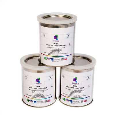 CLEAR EPOXY RESIN COATING FOR WOOD TABLETOP,CONCRETE,GARAGE FLOORS. 3 Quart KIT