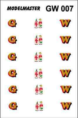 Modelmaster GW007 GWR 1942-48 Loco Lettering Decals OO Gauge Transfers