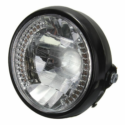 7 Inch Motorcycle Round Headlight Halogen H4 Bulb Head Lamp For HARLEY BOBBER PK