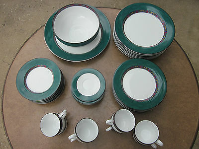 Dansk Emerald Braid  Dinnerware 42 Pc Set