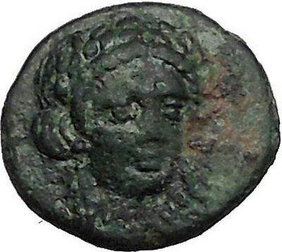 Gergis in Troas 400BC Ancient Greek Coin Sibyl Prophetess Sphinx seated i56046