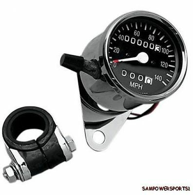 2:1 Mini Resetable Trip Meter Speedometer Harley Fl Fx Fxr Xl 47-90 Clamp