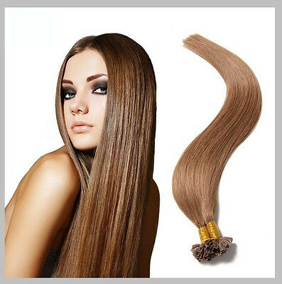 100 Extensions De Cheveux Pose A Chaud 100% Naturels Remy Hair Chatain Noisette