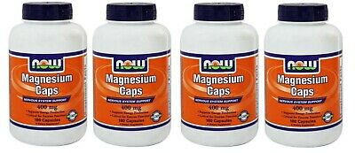 Now Foods Magnesium Caps, 400 mg, 180 Capsules, 2 Pack