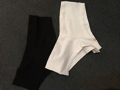 100 Womens Bootyshorts, 100% cotton, white, size medium