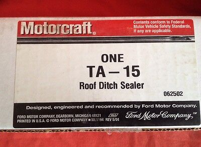 FORD MOTORCRAFT TA-15 ROOF DITCH SELF LEVELING SEAM SEALER Epoxy Resin Tube 10.1