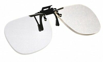 Magna-flip Clip on Flip up Magnifiers, Converts Distance Glasses and Into