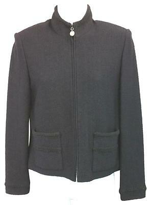 St. John Collection By Marie Gray Black Knit Jacket 4