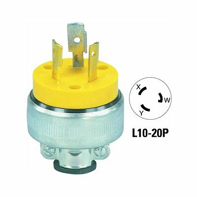 1pcs-COOPER WIRING 2866 15A 250V 6-15 Vinyl Armored and Rubber Plug