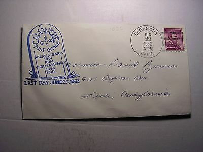 #1036 Camanche, Calif.  Envelope, Stationery U.S. Stamp