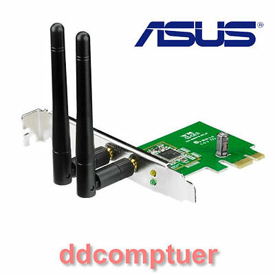 Asus PCE-N15 PCI-e Wireless N Wi-Fi Network Adapter for Laptop PC Computer