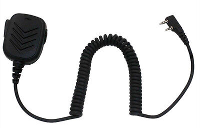Lapel Remote Speaker Shoulder/Handheld Mic with PTT for Mitex Radio 2-pin