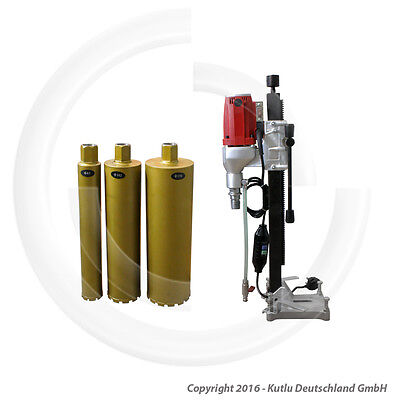 Core Drilling Machine Ø 132 Mm With Stand And 3 Diamond Core Drill Bits