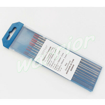 """Red Tips WT20 2% Thoriated Tungsten Electrode Ground Finish 6"""" Kit TIG Welding"""