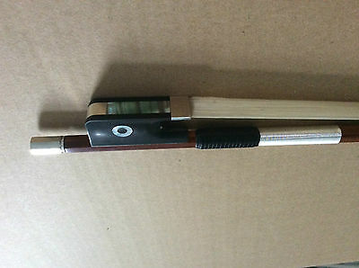 4/4 Cello Bow Selected pernambu  Pure Silver mounted NEW frog ebony