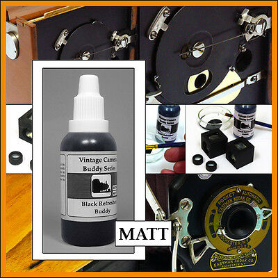 Vintage camera MATT black restoration paint for insides 35ml for Kodak Rochester