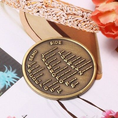 Alloy Steel Bronze Morse Code Decoder Chart Medal Commemorative Coin Gift Prize