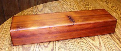 Large Cedar Feather Box 18 x 3 x 5 Inches L x H x W Handcrafted in Oregon, USA