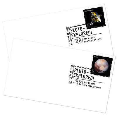 USPS New Pluto - Explored! FDC set of 2