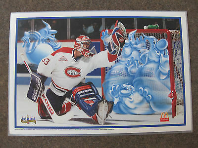 Complete Set Of Montreal Canadiens Placemats 1996 Mtl Forum Ghost