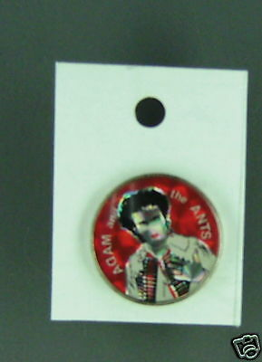 Rare Vintage Adam & The Ants Red Enamel Pin Condition New