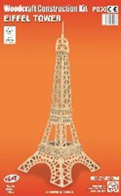 Eiffel Tower - Woodcraft Construction Kit - FSC Wooden Model Kit-Quay- Ages 7+