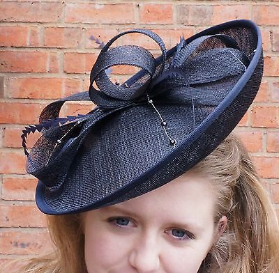 NEW Wedding Hat Fascinator Disc  Ascot Hat Ladies Day Hat RRP £45 Sale £20