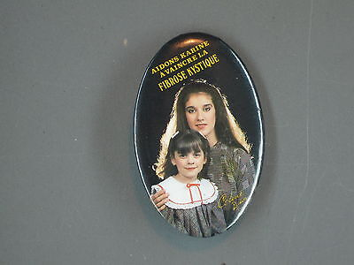 Celine Dion Button  Pin Vintage