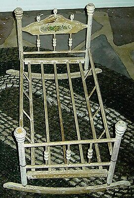 Victorian Doll Cradle - Rocking / 1900 or there abouts!